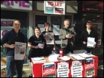 TUSC chair Dave Nellist and other Socialist Party members out campaigning in Coventry
