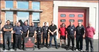 Gipton fire station, Leeds, 12.6.14, photo by Iain Dalton