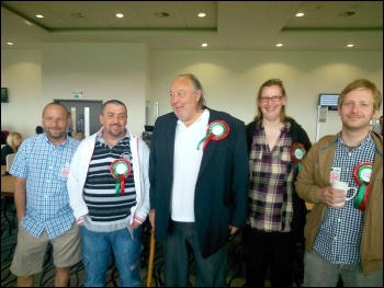 Some of the Salford TUSC candidates at the 2014 elections count