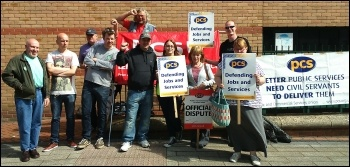 HMRC strike in Leicester, 26 June 2014