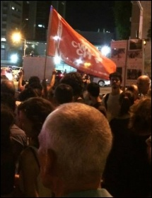 CWI members on one of the protests against Israeli government attacks on Gaza