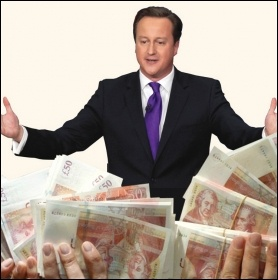 Super-rich flash cash at Tory bash