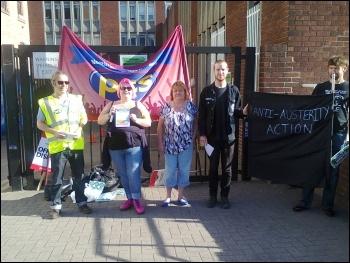 10 July 2014 public sector strike, picketing in Nottingham, photo Becci Heagney