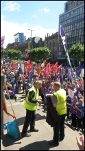 Leeds, public sector strike 10.7.14, photo Iain Dalton