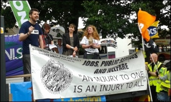 Phil Clarke speaking, NUT, Brighton, public sector strike 10.7.14