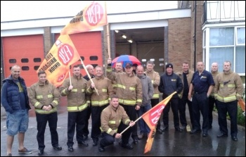 Firefighters in Grimsby, 10.7.14, photo by Andrew Smith