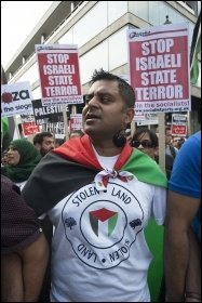 Gaza demo 28 July 2014, photo Paul Mattsson