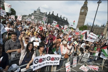 Gaza demo 28 July 2014, photo Paul Mattsson
