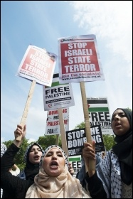 Huge protests have taken place internationally against the Israeli assault on Gaza, photo Paul Mattsson