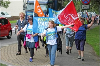 People's March for NHS, photo Simon Elliott