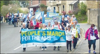 The People's March for the NHS reaches Bolsover, photo by Elaine Evans