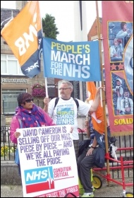 The People's March for the NHS rallies in Bolsover, photo by Elaine Evans
