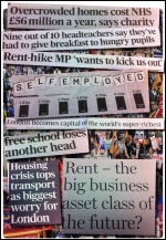 Some of the headlines indicating the state of Britain