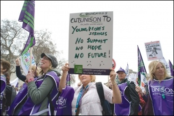 Social work and young people's services have suffered huge cuts, photo Paul Mattsson