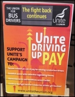 London bus drivers' campaign, photo Judy Beishon