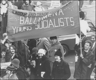 Young Socialists from Ballymena marching for workers' unity in 1980
