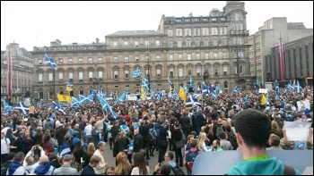 A Scotland Referendum rally, photo by SP Scotland