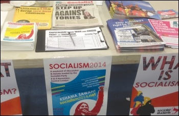 A Socialist Students stall, photo Socialist Students