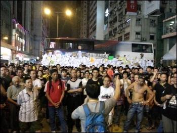 A Socialist Action forum at the 2014 Hong Kong democracy protests