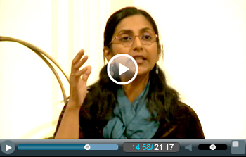 Kshama Sawant at Climate change protest meeting, 21 September 2014, NewYork, photo by Real News Network