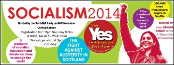 Socialism 2014 advert
