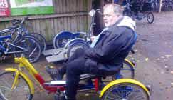 Andrew Price on his bike