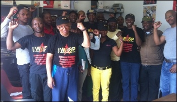 Members of the Workers and Socialist Party, photo by DSM