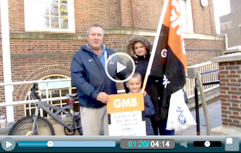 Barking council protest Video splash