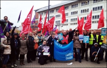 Leeds, NHS strike, 13.10.14, photo Ben Mayor