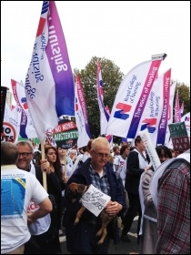 Nurses' contingent, TUC demo 18.10.14, photo JB