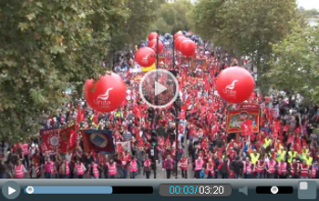 TUC demo 18 October 2014, photo by Socialist Party