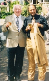 Ronnie Sookhdeo (right) with Peter Taaffe