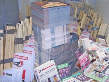 Placards, leaflets, book: Just some of the resources donations can help pay for