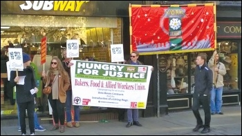 Fast Food Rights day of action in York on 5 November 2014, photo York Socialist Society
