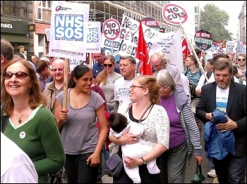 The People's March for the NHS, London, photo by Bob Severn