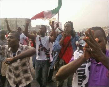 A general strike against fuel price hikes in Nigeria