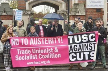 TUSC supporters in Rochester, photo SP North Kent