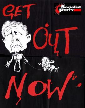 Bush and Poodle Blair: Get out of Iraq, photo Alan Hardman