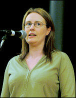 Jackie Grunsell speaking at Socialist Party congress
