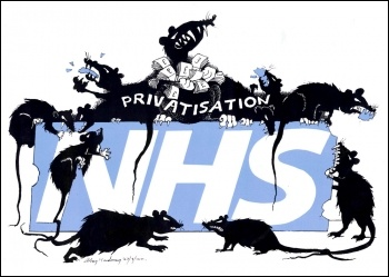 Stop the privatisation rats tearing up our NHS!, photo Alan Hardman