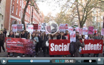 Socialist Students on demo Nov 2014, photo by Socialist Party