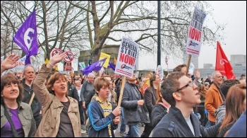 A 24-hour general strike would be a serious step in a campaign to defeat the cuts, photo Suzanne Beishon