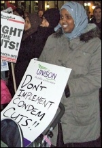 Fighting the cuts in Tower Hamlets, East London