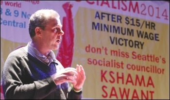 PCS general secretary Mark Serwotka speaking at Socialism 2014, photo by Senan