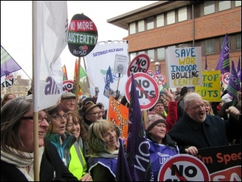 Gateshead demo against cuts, 7.2.15, photo by E Brunskill