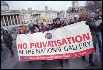 National Gallery strikers' demonstration, 5.2.15, photo Paul Mattsson