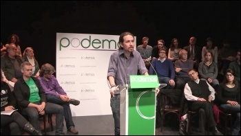 Podemos leader Pablo Iglesias (centre) photo Creative Commons (http://creativecommons.org/licenses/by/3.0/deed.en)
