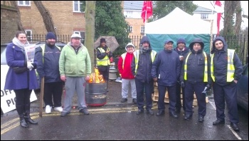 Holloway bus strike picket, 5.2.15