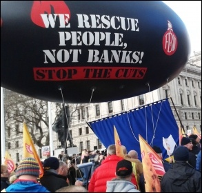 FBU march, 25.2.15, photo Sarah Wrack