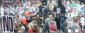 Anti-war demo 15 Feb 2003, photo by Paul Mattsson